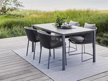 Cane Line Outdoor Dot Soft Rope Wicker Dining Set CNODOTDINSET