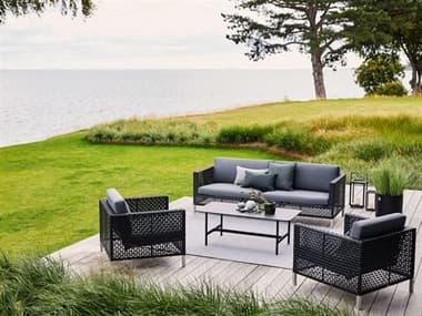 Cane Line Outdoor Dot Soft Rope Aluminum Lounge Set CNODOTLNGSET