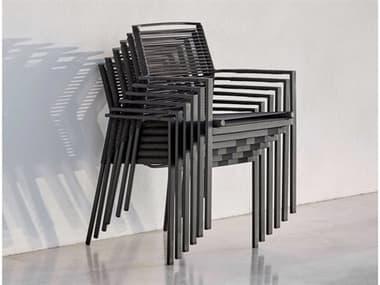 Cane Line Outdoor Edge  Aluminum Rope Strap Dining Arm Chair Set CNOEDGEDINCHRSET