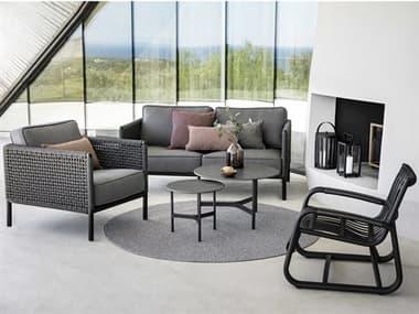 Cane Line Outdoor Encore Aluminum Wicker Cushion Lounge Set CNOENCRLNGSET