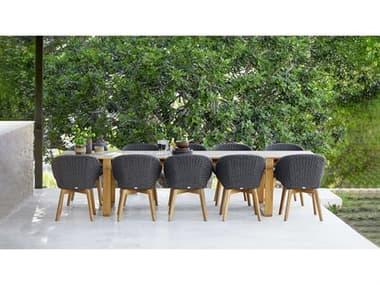 Cane Line Outdoor Endless Teak Dining Set CNOENDLSSDINSET3