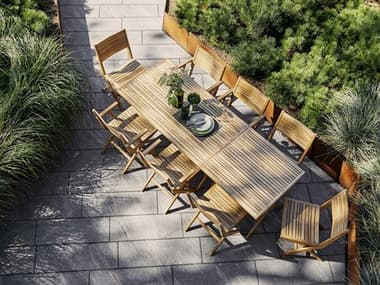 Cane Line Outdoor Flip Teak Dining Set CNOFLIPDINSET3