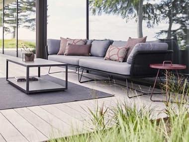 Cane Line Outdoor Horizon Steel Wicker Sectional Lounge Set CNOHORZNSECLNGSET1