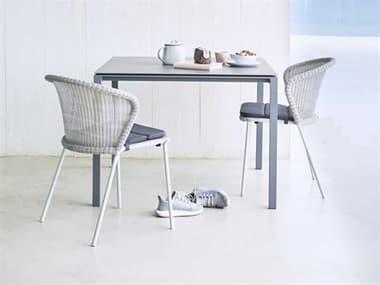 Cane Line Outdoor Lean Aluminum Wicker Dining Set CNOLEANDINSET1