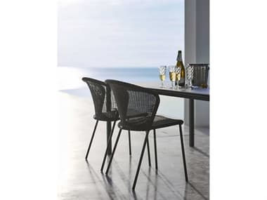 Cane Line Outdoor Lean Aluminum Wicker Dining Set CNOLEANDINSET2