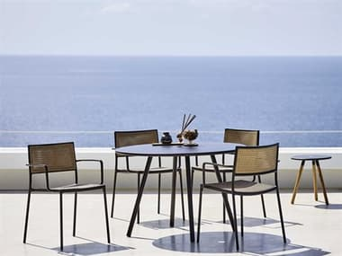 Cane Line Outdoor Less Aluminum Wicker Dining Set CNOLESSDINSET2