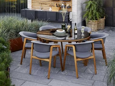Cane Line Outdoor Luna Teak Dining Set CNOLUNADINSET