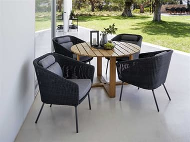Cane Line Outdoor Mega Aluminum Wicker Dining Set CNOMEGADINSET