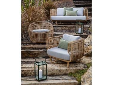 Cane Line Outdoor Nest Aluminum Wicker Lounge Set CNONESTLNGSET