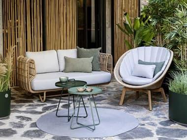 Cane Line Outdoor Nest Aluminum Wicker Lounge Set CNONESTLNGSET1