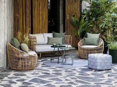 Cane Line Outdoor Nest Aluminum Wicker Lounge Set CNONESTLNGSET2