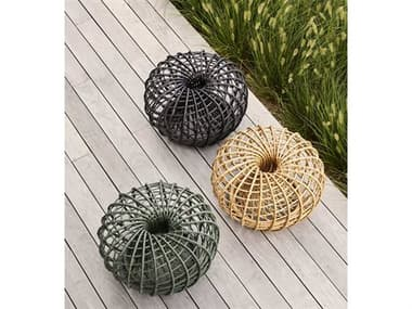 Cane Line Outdoor Nest Wicker Small Foot Stool Set CNONESTOTTMSET