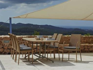 Cane Line Outdoor Newman Aluminum Wicker Dining Set CNONWMANDINSET