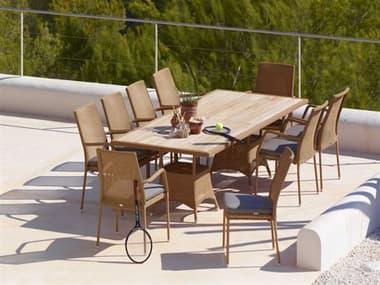 Cane Line Outdoor Newman Aluminum Wicker Dining Set CNONWMANDINSET1