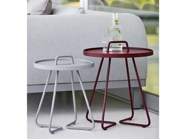 Cane Line Outdoor On-the-Move Aluminum End Table Set CNOONTMVETBLESET