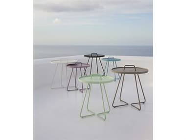 Cane Line Outdoor On-the-Move Aluminum End Table Set CNOONTMVETBLESET10