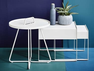 Cane Line Outdoor On-the-Move Aluminum End Table Set CNOONTMVETBLESET1