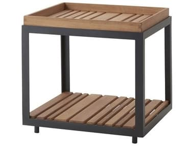 Cane Line Outdoor Level Aluminum 18''Wide Square Coffee Table CNOP50075007