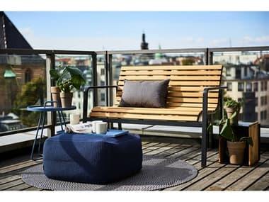 Cane Line Outdoor Parc Teak Aluminum Lounge Set CNOPARCLNGSET