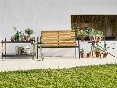 Cane Line Outdoor Parc Teak Aluminum Lounge Set CNOPARCLNGSET1