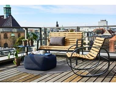 Cane Line Outdoor Parc Teak Aluminum Lounge Set CNOPARCLNGSET2