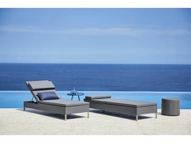 Cane Line Outdoor Rest Aluminum Lounge Set CNORESTLNGSET1