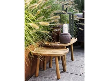 Cane Line Outdoor Royal Teak Table Set CNOROYALTBLESET