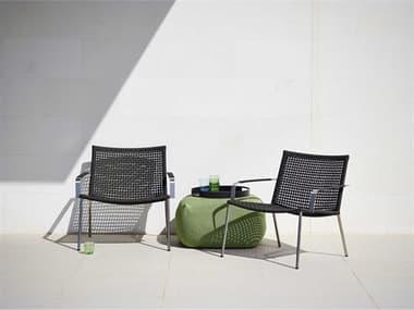 Cane Line Outdoor Straw  Aluminum Lounge Set CNOSTRAWLNGSET1