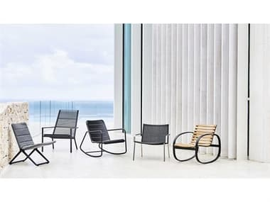 Cane Line Outdoor Straw  Aluminum Lounge Chair Set CNOSTRAWLNGSET2