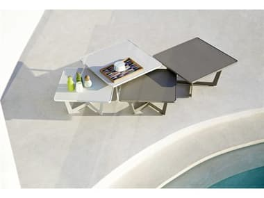 Cane Line Outdoor Time Out Aluminum Coffee Table Set CNOTMEOUTTABLESET1