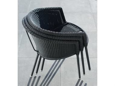 Cane Line Outdoor Trinity Aluminum Wicker Stackable Dining Chair Set CNOTRINTYDINCHRSET