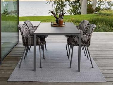 Cane Line Outdoor Vibe Aluminum Wicker Dining Set CNOVIBEDINSET1