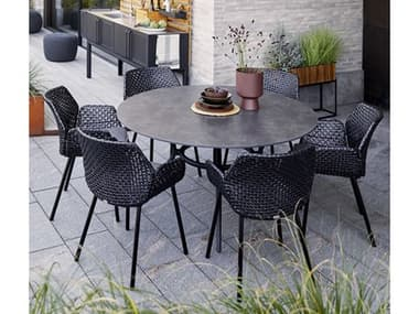 Cane Line Outdoor Vibe Aluminum Wicker Dining Set CNOVIBEDINSET4