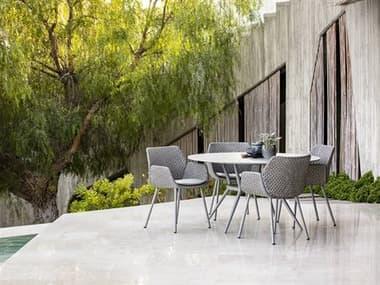 Cane Line Outdoor Vibe Aluminum Wicker Dining Set CNOVIBEDINSET5
