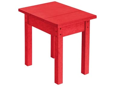 C.R. Plastic Generation Recycled Plastic 18''W x 13''D Rectangular End Table CRT01