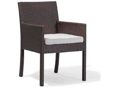 Caluco Dijon Wicker Majestic Black Dining Arm Chair CU8251A