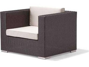 Caluco Dijon Wicker Majestic Black Lounge Chair CU82521