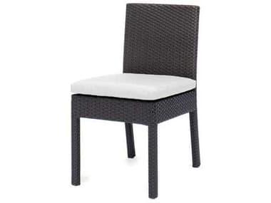 Caluco Dijon Wicker Majestic Black Dining Side Chair CU8256S