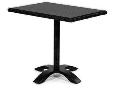 Caluco Dijon Wicker Majestic Black 36'' Wide Square Bistro Table CU825B32