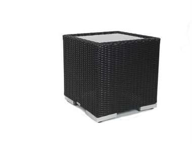 Caluco Dijon Wicker Majestic Black 18'' Wide Square End Table CU825E