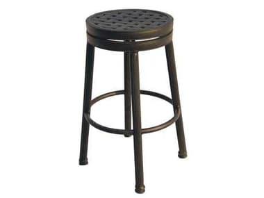 Darlee Outdoor Living Backless Cast Aluminum Antique Bronze Round Swivel Bar Stool DA12107