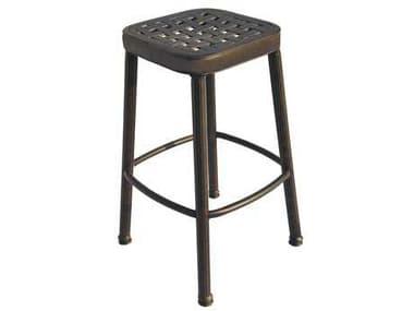 Darlee Outdoor Living Backless Cast Aluminum Antique Bronze Square Bar Stool DA12207