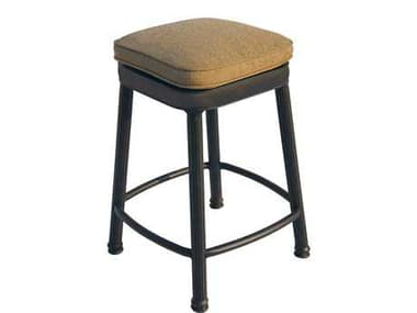 Darlee Outdoor Living Backless Cast Aluminum Antique Bronze Square Counter Height Stool DA12207CH
