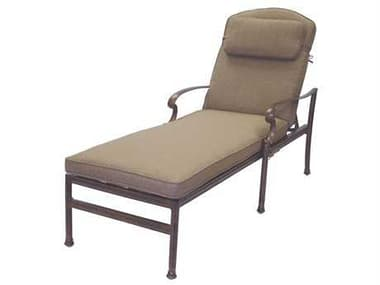 Darlee Outdoor Living Santa Barbara Replacement Chaise Lounge Seat and Back Cushion with pillow DA201010303