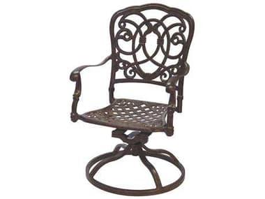 Darlee Outdoor Living Florence Antique Bronze Cast Aluminum Swivel Rocker Chair DA2010203