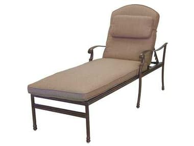 Darlee Outdoor Living Florence Cast Aluminum Chaise Lounge in Antique Bronze DA20102033