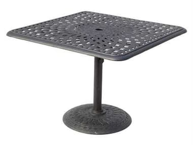 Darlee Outdoor Living Series 60 Antique Bronze Cast Aluminum 36 Square Counter Height Table DA201060CI