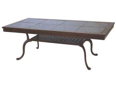 Darlee Outdoor Living Granite Top Antique Bronze Cast Aluminum 52 x 28 Rectangular Coffee Table DA201077B