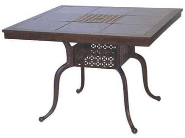 Darlee Outdoor Living Granite Top with Antique Bronze Cast Aluminum 41'' Wide Square Dining Table DA201077C
