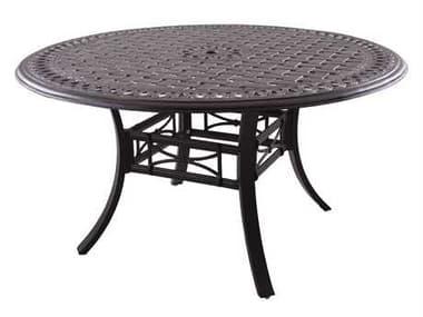 Darlee Outdoor Living Series 88 Cast Aluminum Antique Bronze 54 Round Dining Table DA201088C